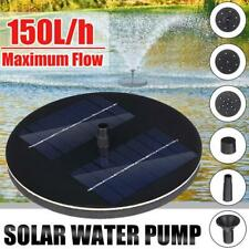 Bird Bath Fountain Solar Powered Water Pump Floating Pond Fast