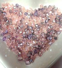100 Austrian Crystal Glass Bicone Beads - Pink AB & Pink Metallic- 4mm