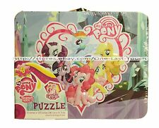 "MY LITTLE PONY* 48pc 15""x12.5"" Puzzle+TIN LUNCHBOX CASE Fun For Kids FRIENDSHIP"