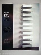 Donald Judd Art Gallery Exhibit PRINT AD - 1990
