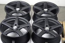 17 5x114.3 Matte Black Rims Fits Lexus G35 Mazda Stratus Venza 5 Lug Wheels