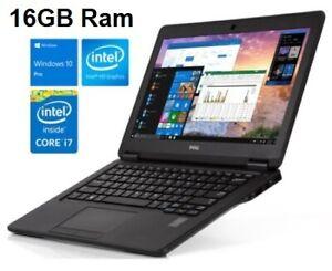 Dell Latitude E7250 Core i7-5600U/ 16GB Ram 256GB SSD/ 12.5in HD Windows 10 Pro