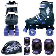 Rollers et patins violets enfants