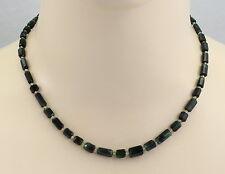 Turmalin-Kette - grüne Turmalin Kristall Halskette mit Peridot in 45 cm Länge