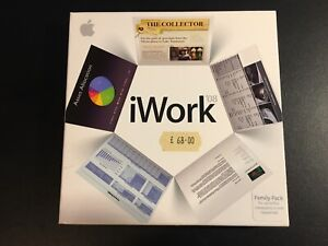 Apple iWork 08 Family pack with serial number. Pre owned.