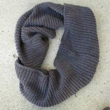 Wrapables 100% Acrylic Wide Round Knit Scarf Dark Gray