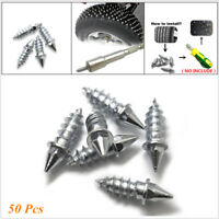 50 Pcs Car Truck Snow Bike Motorcycle Wheel Tires Anti-slip Spikes Studs Screws