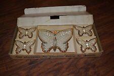 J9- The Jeannette Glass Company 5 PC. Butterfly Set in Box
