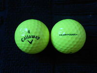 "20  CALLAWAY - ""CXR POWER"" - ""YELLOW"" -   Golf Balls  - ""PEARL/A""  Grades."