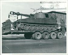 1976 British Tank on a Truck Bed Original News Service Photo