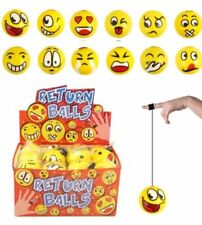 SMILEY FACE EMOJI Return STRING Balls PARTY BAG easter NOVELTY GIFT