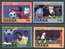 Ghana 1982 World Cup Footcall Championships set 4 imperf mint (2017/05/23#10)