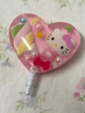 Hello Kitty Heart/ Stars Candy Pastel Resin Ear Phone Accessory 2013 Collectable