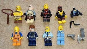 Lego Mini Figures Bundle Star Wars Gladiator Lego Movie Police Black Vulcan