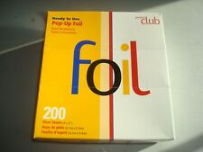 PRODUCT CLUB POP-UP FOIL 200 SILVER SHEETS