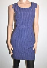 Portmans Brand Ink White Striped Fitted Day Dress Size 10 BNWT #TH22