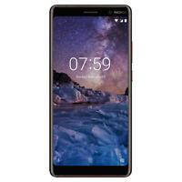 """New Nokia 7 Plus Black Copper 6"""" 64GB Octa Core 4GB LTE Android 8 Sim Free UK"""