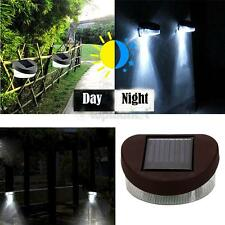 1 Piece LED Solar Fence Porch Wall Path Lamp White Light for Outdoor Garden Yard
