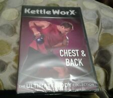 kettle worx new and sealed fitness dvd chest and back ultimate body collection
