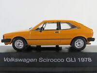 DeAGOSTINI #05 VW Scirocco I GLI (1978) in gelb 1:43 NEU/PC-Vitrine