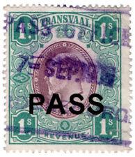 (I.B) Transvaal Revenue : Native Pass 1/-