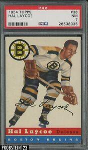 1954 Topps Hockey #38 Hal Laycoe Boston Bruins PSA 7 NM