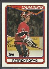 1990-91 Topps Hockey - #219 - Patrick Roy - Montreal Canadiens