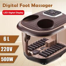 Electric Foot Spa Roller Massage Bubble Vibration Heating Bath Oxygen