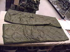 US  Cold Weather M65 Trousers Button in Liner in Size Lg / Long  1974 DSA Date
