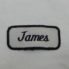 "Custom Embroidered Name Tag Sew on Patch ""JAMES"""