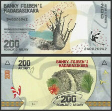 MADAGASCAR 200 Ariary, 2017, P-98, Butterfly, Waterfall, UNC World Currency