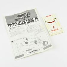 Manual & Sticker - Toyota Celica Turbo '78 - 1:24 Scale Fujimi Plastic Model Kit