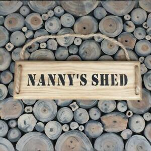 Handmade  'NANNY'S SHED'' wall plaque