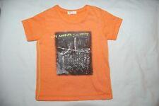 Benetton Baby Orange Los Angeles T Shirt Short Sleeves Age 1-3 Months BNWOT