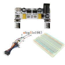 MB102 Solderless Power Supply Module +400 Mini Breadboard+65PCS Jump Cable Wires