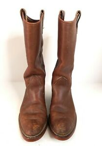 Vintage Red Wing Cowboy Western Brown Boots Ladies Size 7 M Made in USA.