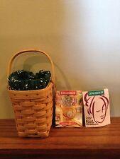 Longaberger 1998 Horizon of Hope Basket Combo Green Signed Mint
