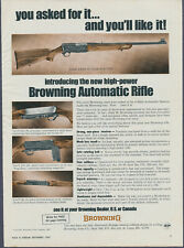 Vintage Magazine Ad Browning Automatic Rifle September 1967