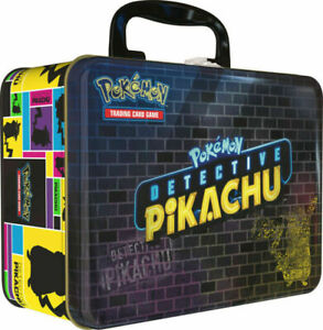 Pokemon Detective Pikachu Collectors Chest Lunch Box 9 Booster Packs Tin Sealed