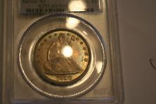 1858 50C Liberty Seated Half Dollar PCGS GRADED MS-63<> NICE COLOR TONING