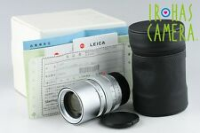 Leica Elmarit-M 90mm F/2.8 E46 Lens In Silver With Box #10242F2