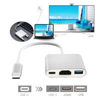 Typ-C auf HDMI 4K USB 3.1 Kabel 3 in1 HD 3.0 HUB USB-C Ladeanschluss Adapter