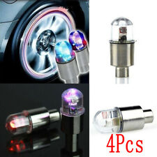 4x Car Auto Wheel Tire Valve Stem Cap Colorful LED Light Lamp Bulb Accessories