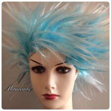 Short Spiky Punk Wig Rocker 80s WIG Women Men Multi coloured Fancy Dress Costume