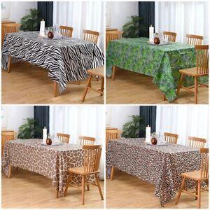 Woodland Safari Animal Jungle Theme Waterproof Tablecloth Home Party Decoration