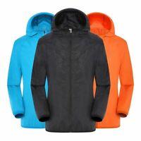 Men Women Casual Jackets Windproof Ultra Light Rainproof Windbreaker Raincoat