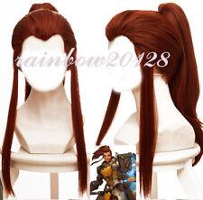 """20"""" Game Overwatch OW Brigitte +1 Clip Ponytail Cosplay Wig"""