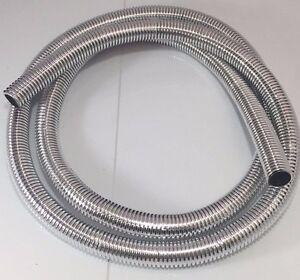 "Wire Loom 5/8"" Diameter 72"" Long Universal (Chrome)"