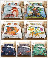 3D Animal Fox Kids Bedding Set Duvet Cover Pillowcase Without Quilt/Comforter