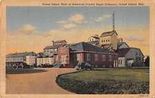 Grand Island Nebraska Plant of American Crystal Sugar Co Postcard J58385